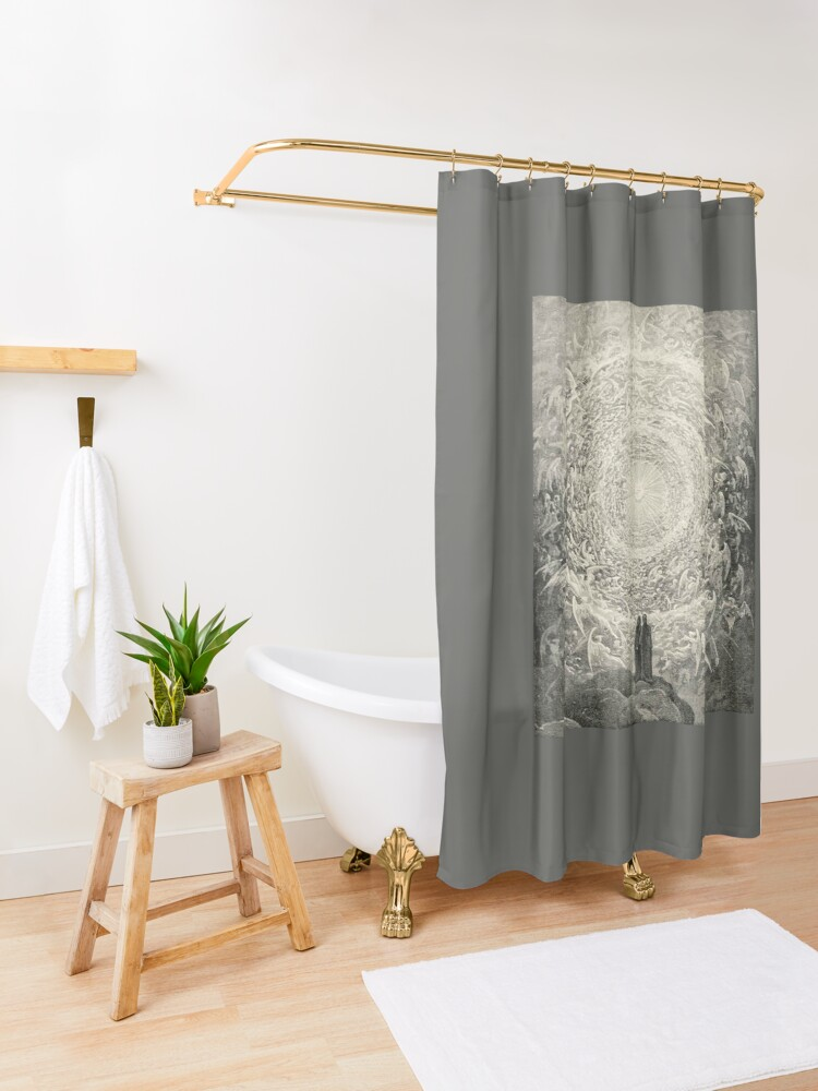Alternate view of Dante, Heaven, Heavenly, The Divine Comedy, Gustave Doré, Highest, Heaven Shower Curtain