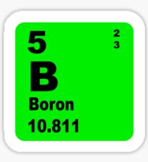 Boron Periodic Table of Elements Sticker