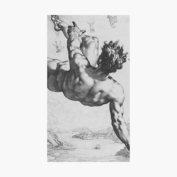 Icarus Falling Photographic Print