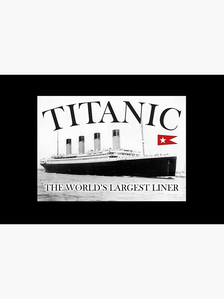TITANIC, RMS Titanic, Cruise, Ship, Disaster. On Black. by TOMSREDBUBBLE