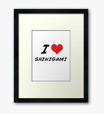 I love shinigami Framed Print