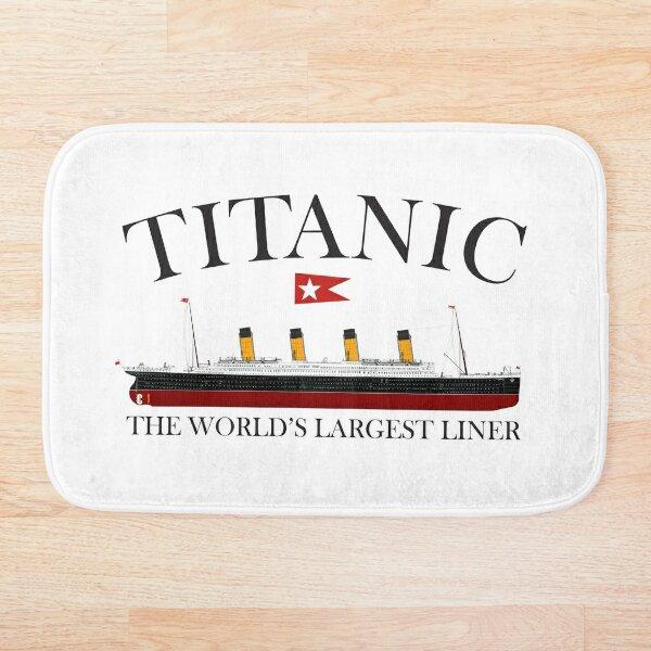 Titanic. 1912, RMS Titanic, Cruise, Ship, Disaster. Bath Mat