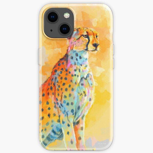 Wild Grace - Cheetah digital painting iPhone Soft Case