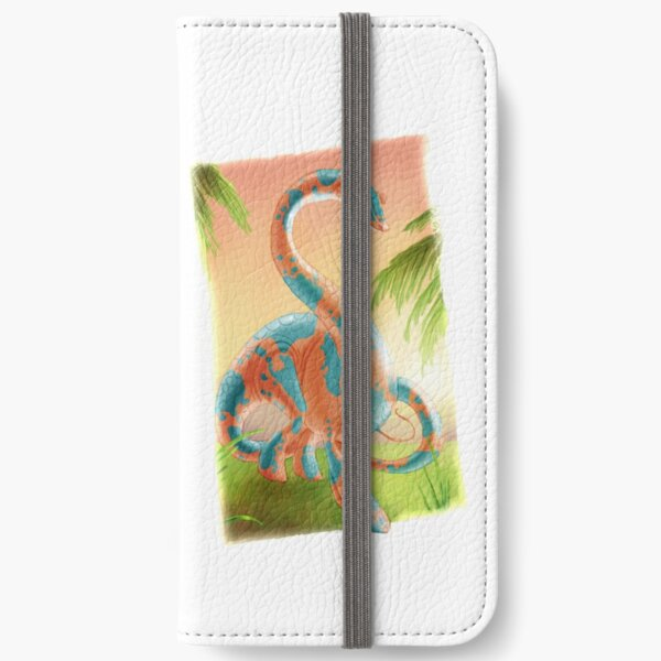 Colourful dinosaur iPhone Wallet
