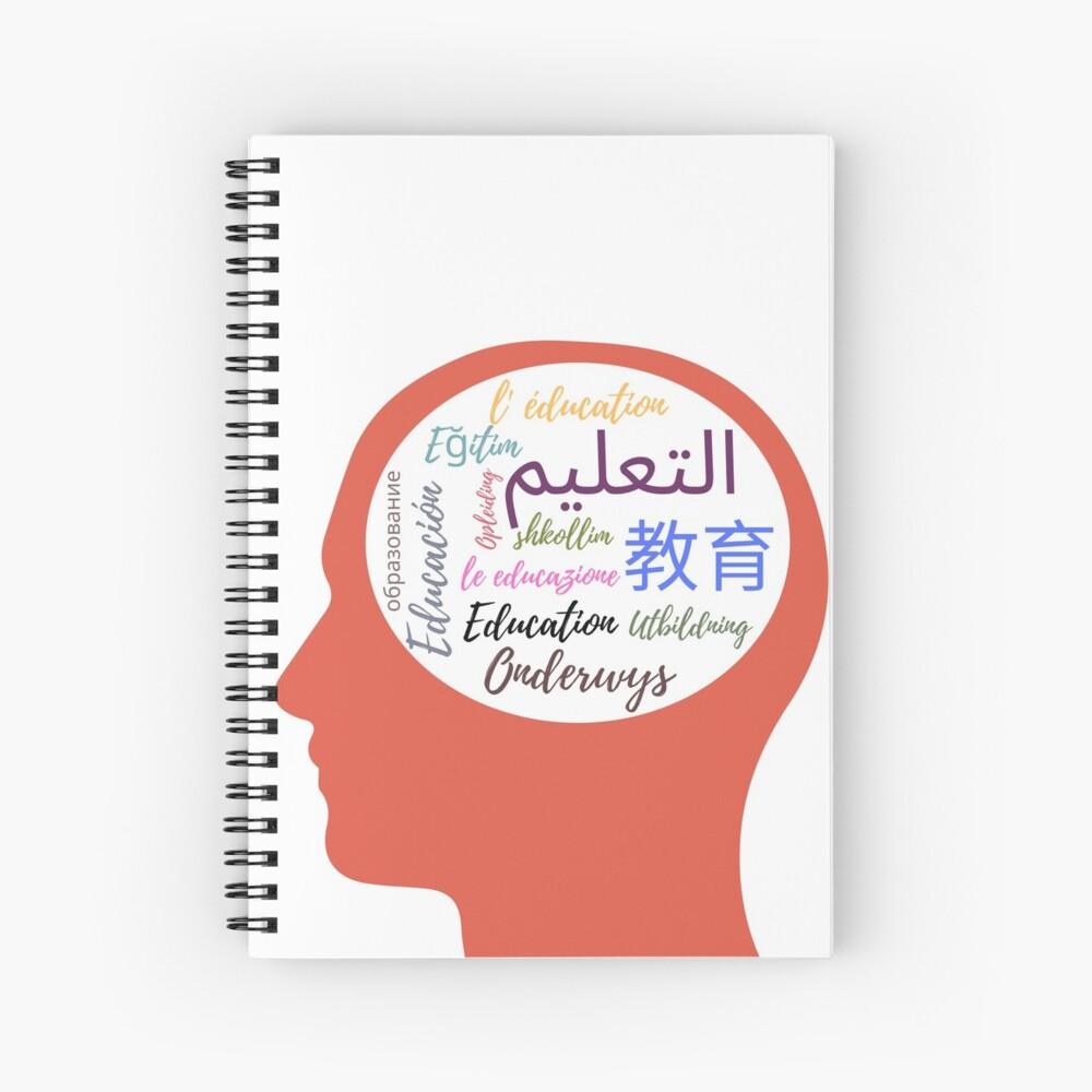 Mind Your Language Spiral Notebook