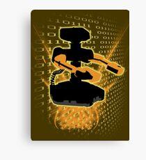 Super Smash Bros Yellow/Gold ROB Silhouette Canvas Print