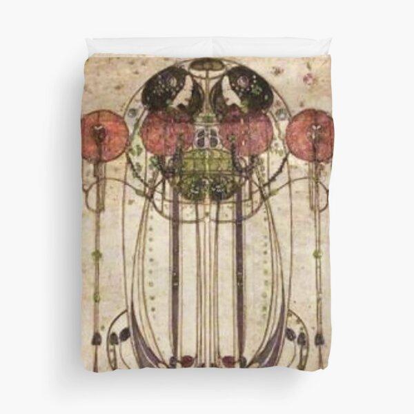Charles Rennie Mackintosh. The Wassail 1900  (Detail, Crop). Duvet Cover