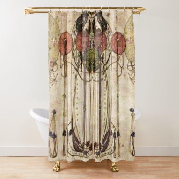 Charles Rennie Mackintosh. The Wassail 1900  (Detail, Crop). Shower Curtain