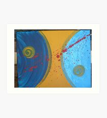 Yin and Yang Abstract Art Print