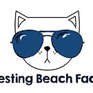 Resting Beach Face Cat by Salters17