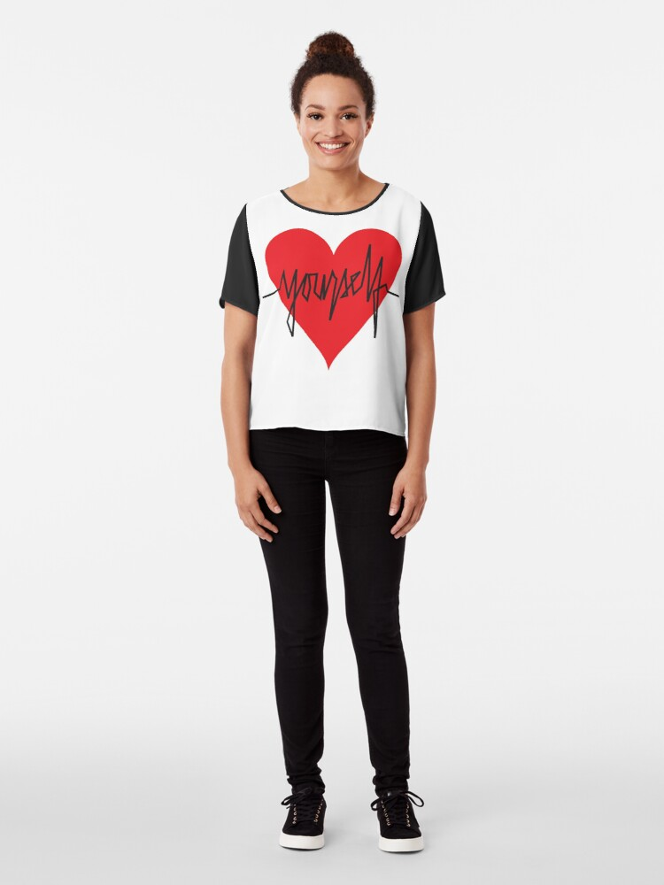 Alternate view of love yourself - zachary martin Chiffon Top