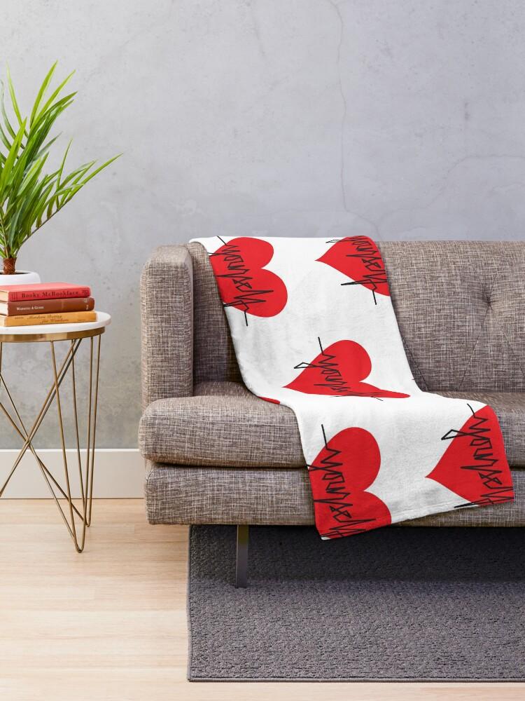 Alternate view of love yourself - zachary martin Throw Blanket