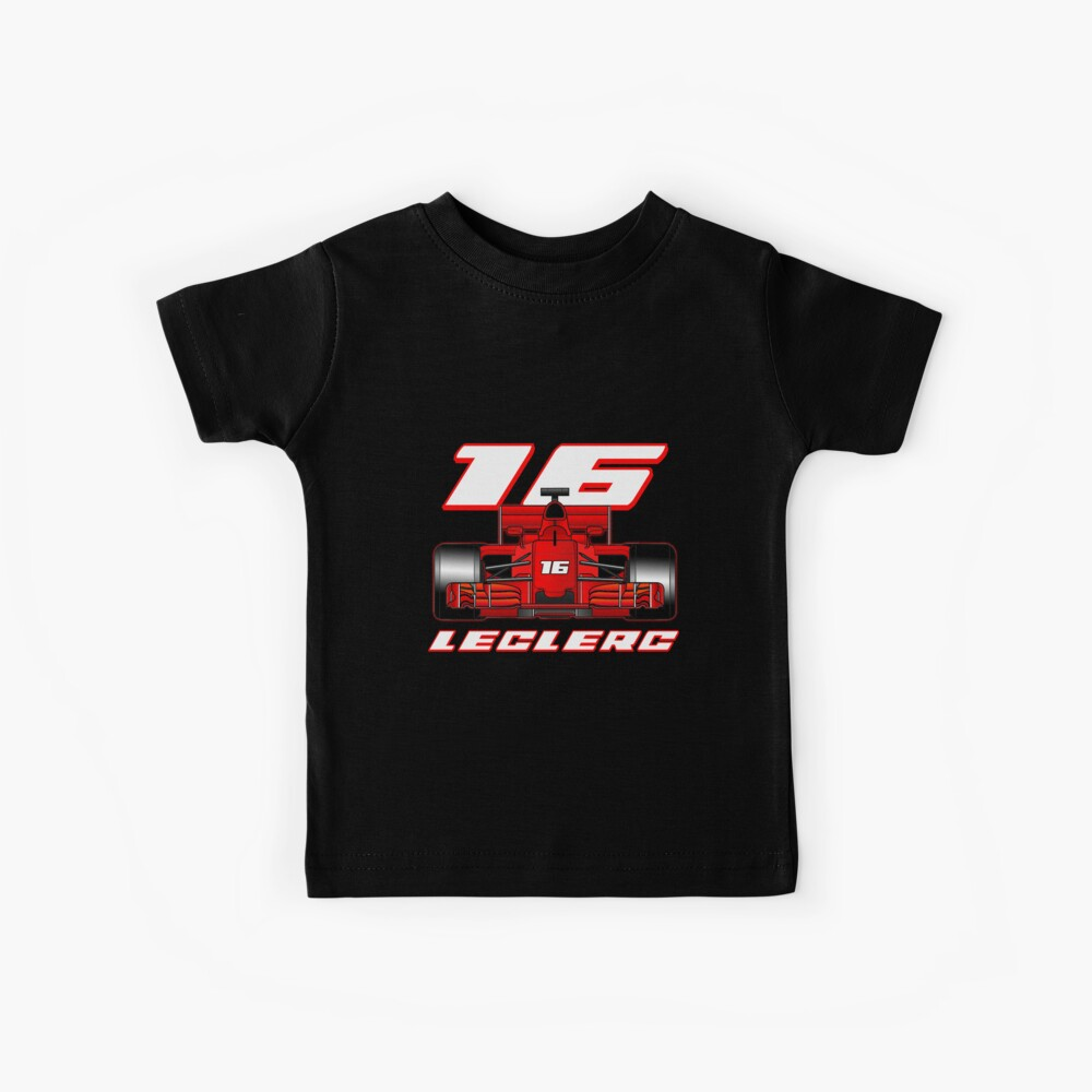 Charles Leclerc on his car Kids T-Shirt