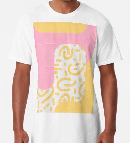 Sunny Doodle Tiles 02 #redbubble #midmod Long T-Shirt