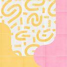 Sunny Doodle Tiles 03 #redbubble #midmod by designdn