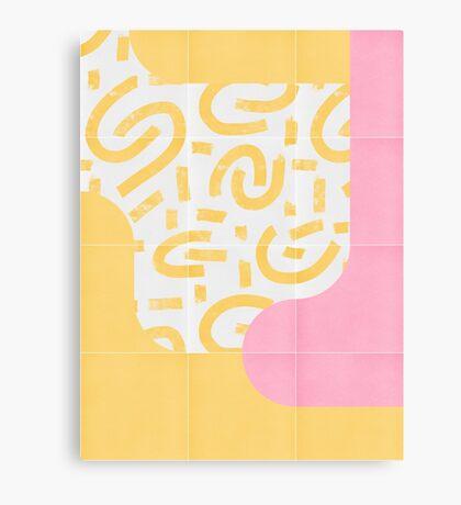 Sunny Doodle Tiles 03 #redbubble #midmod Canvas Print