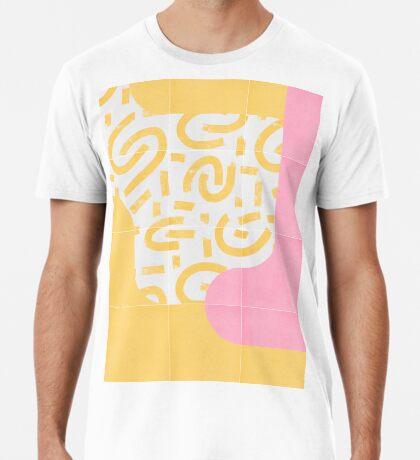 Sunny Doodle Tiles 03 #redbubble #midmod Premium T-Shirt