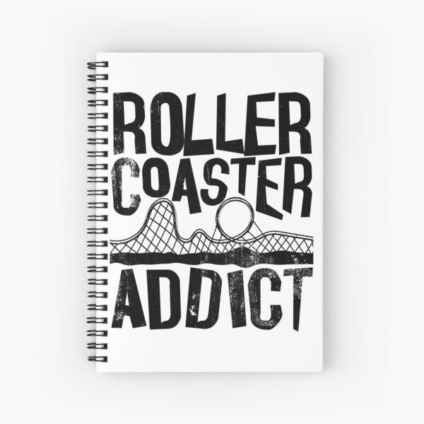 Roller Coaster Addict I cool rollercoaster enthusiast design Spiral Notebook