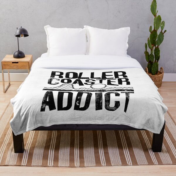 Roller Coaster Addict I cool rollercoaster enthusiast design Throw Blanket