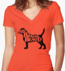 Three's Company - The Regal Beagle Fitted V-Neck T-Shirt