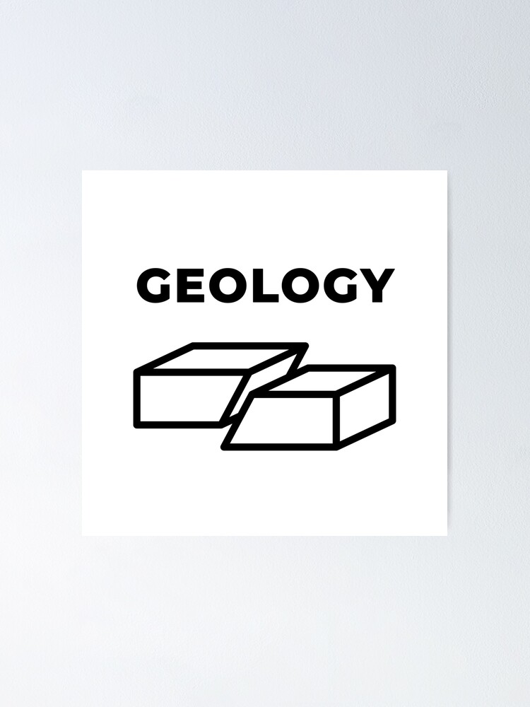Alternate view of Geology (Inverted) Poster