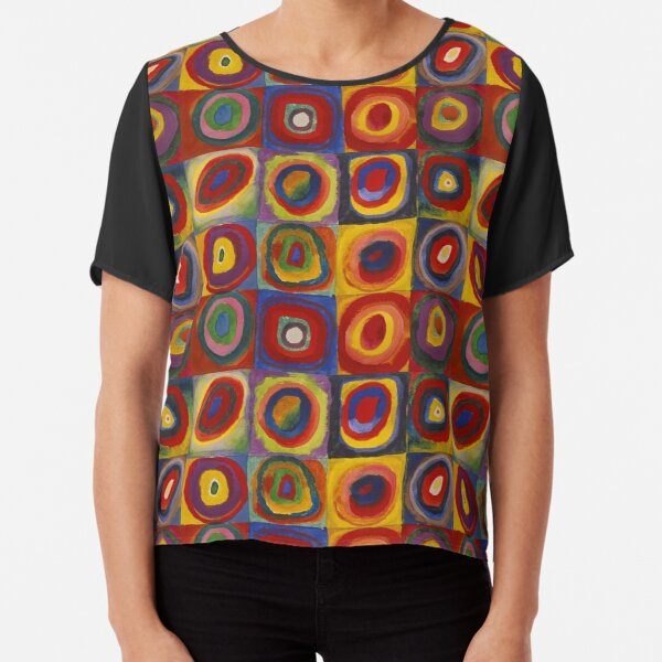 Wassily Kandinsky, Colour Study, Squares with Concentric Circles. Chiffon Top