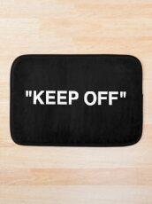 Off White Ikea Keep Off Teppich schwarz / weiß Virgil Abloh - Weihnachten St. Valentinstag Neujahr Tshirt Geschenkidee für Jungen Mädchen Frauen Männer Badematte
