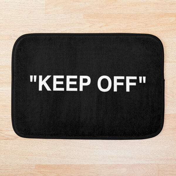 Off White Ikea Keep Off Rug Black/White Virgil Abloh - Christmas St Valentines Day New Year Tshirt Gift Idea for Boys Girls Women Men Bath Mat