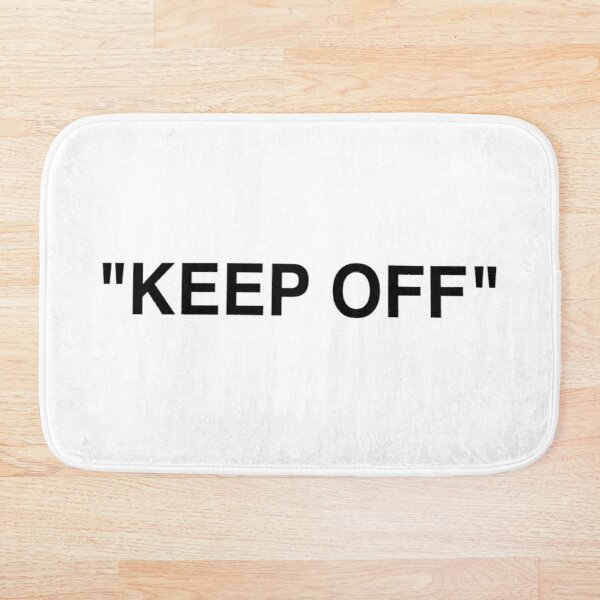 Off White Ikea Keep Off Rug Black/White Virgil Abloh - Christmas St Valentines Day New Year Tshirt Gift Idea for Boys Girls Women Men Bath Mat