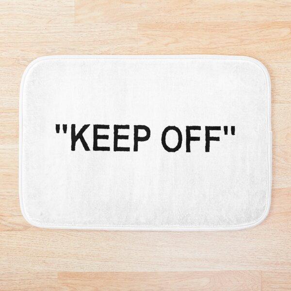 Off White Ikea Keep Off Rug Black/White Not Virgil Abloh - Christmas St Valentines Day New Year Tshirt Gift Idea for Boys Girls Women Men Bath Mat