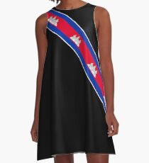 Cambodia Named Flag Gifts A-Line Dress