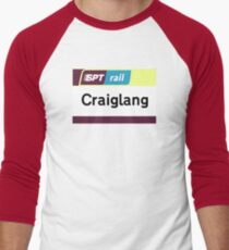 Craiglang Station Sign Men's Baseball ¾ T-Shirt