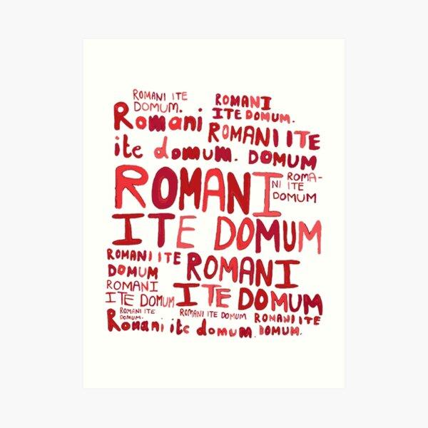Romanos van a casa Lámina artística