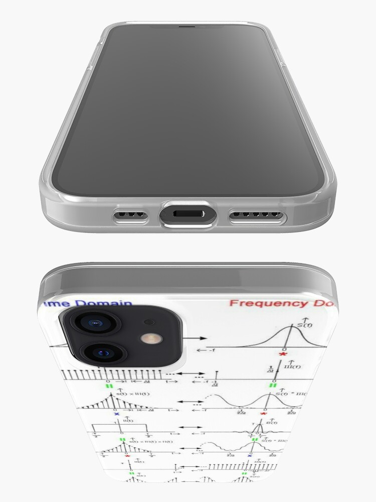 Alternate view of #Discrete #Fourier #Transform. #Diagram, graph, formula, chalk out, illustration, physics, graph plot, symbol, guidance, draft, sketch, science, research, scientific experiment iPhone Case & Cover