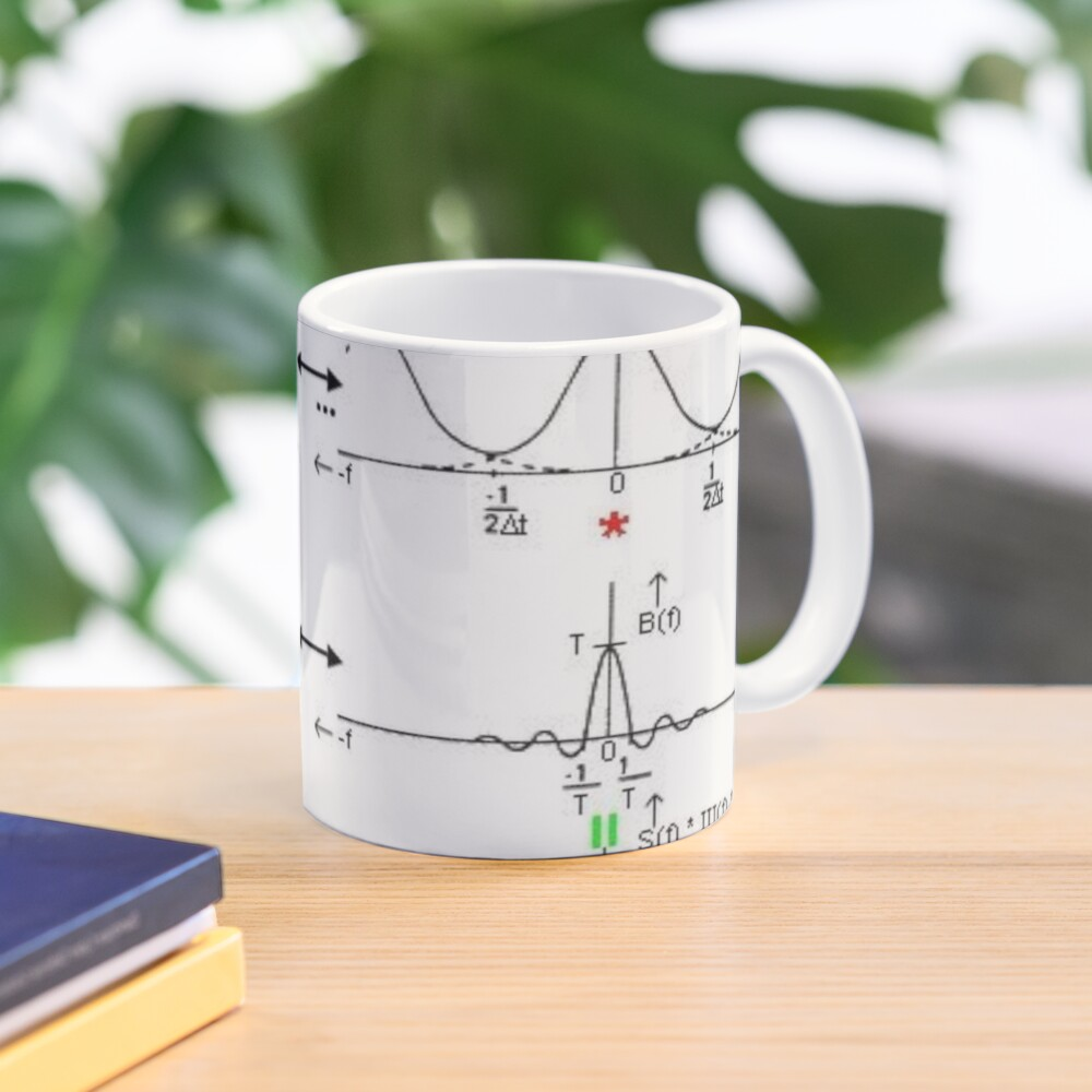 #Discrete #Fourier #Transform. #Diagram, graph, formula, chalk out, illustration, physics, graph plot, symbol, guidance, draft, sketch, science, research, scientific experiment Mug