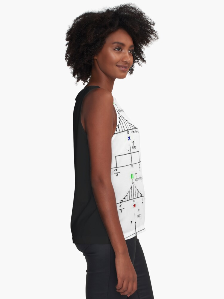 Alternate view of #Discrete #Fourier #Transform. #Diagram, graph, formula, chalk out, illustration, physics, graph plot, symbol, guidance, draft, sketch, science, research, scientific experiment Sleeveless Top