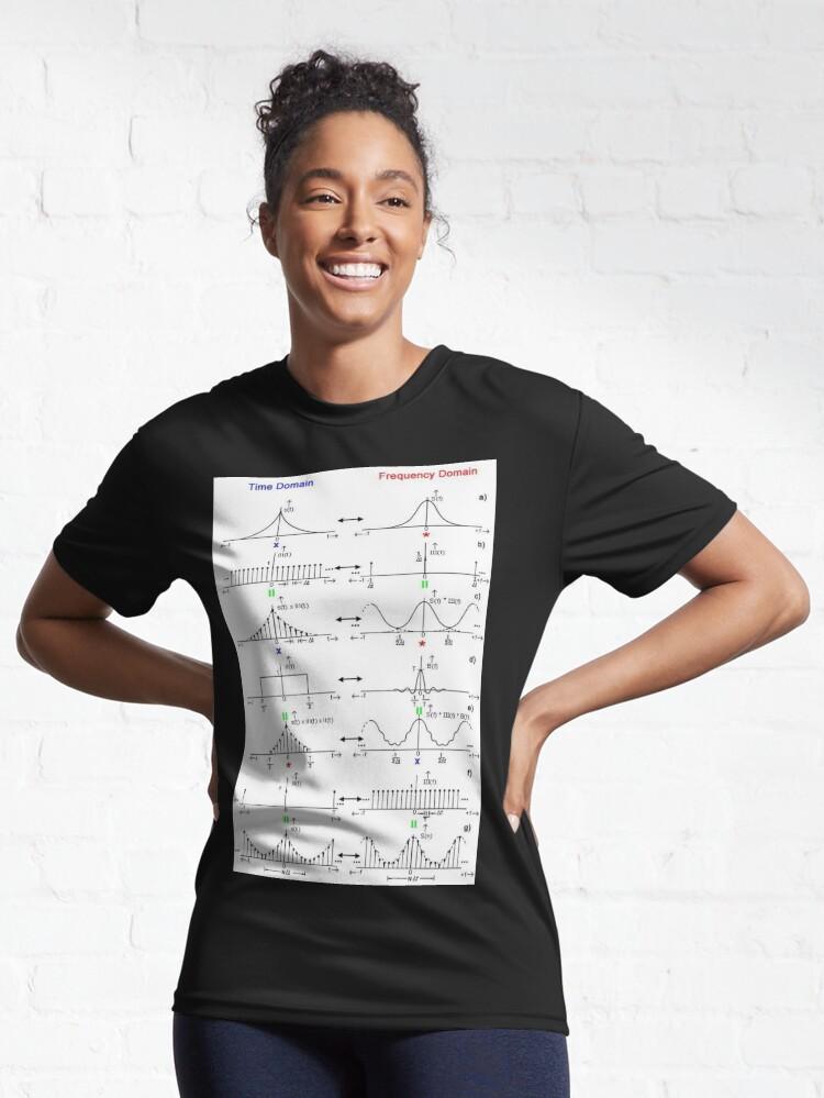 Alternate view of #Discrete #Fourier #Transform. #Diagram, graph, formula, chalk out, illustration, physics, graph plot, symbol, guidance, draft, sketch, science, research, scientific experiment Active T-Shirt