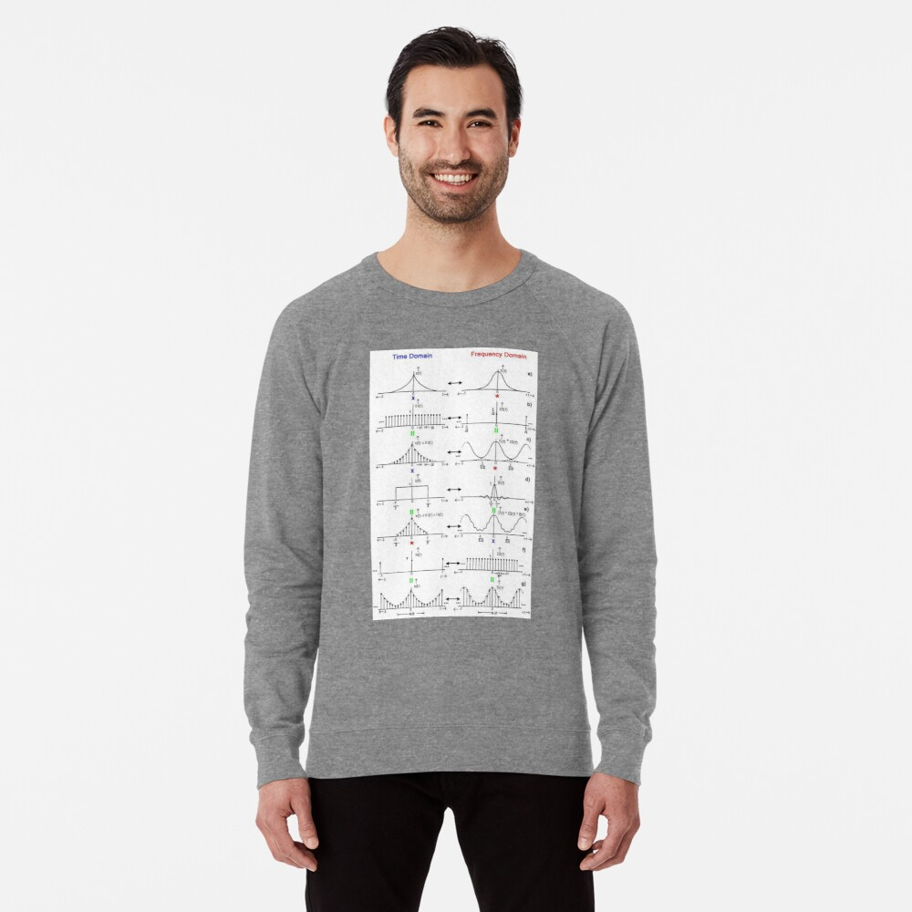 #Discrete #Fourier #Transform. #Diagram, graph, formula, chalk out, illustration, physics, graph plot, symbol, guidance, draft, sketch, science, research, scientific experiment Lightweight Sweatshirt