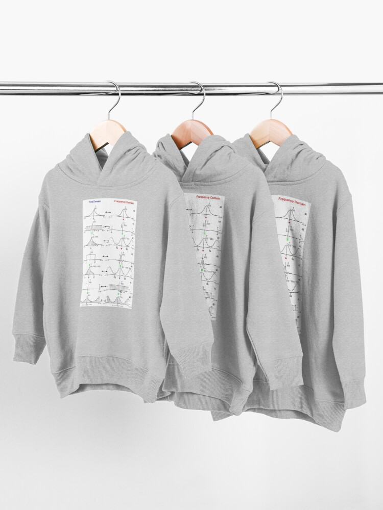 Alternate view of #Discrete #Fourier #Transform. #Diagram, graph, formula, chalk out, illustration, physics, graph plot, symbol, guidance, draft, sketch, science, research, scientific experiment Toddler Pullover Hoodie