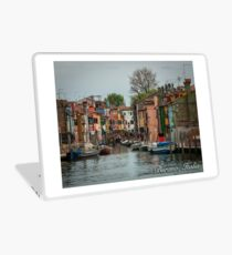 A View Along a Canal in Burano, Italia Laptop Skin