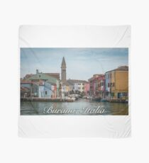 A View Along a Canal in Burano, Italy Scarf