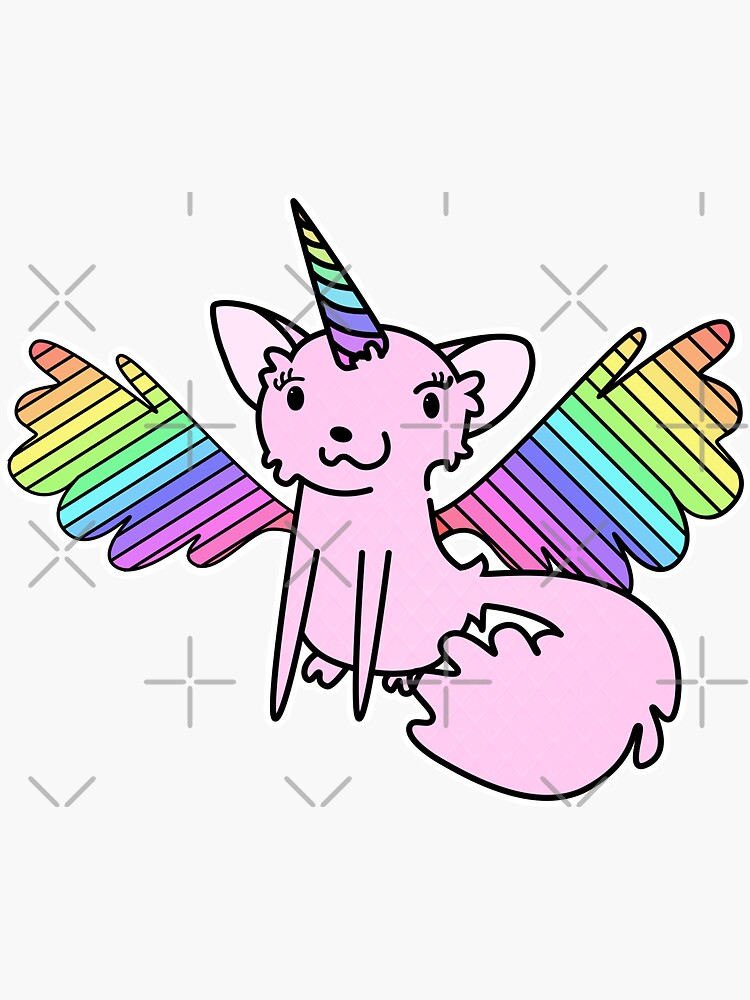 Pink Unikitty Rainbow Wings by SubtleSplit