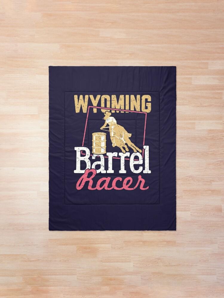 Alternate view of Wyoming Barrel Racer Comforter