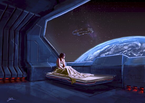 Alone in Space by Yair Mor
