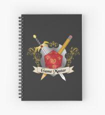 Cuaderno de espiral Juego Master Red d20 Crest