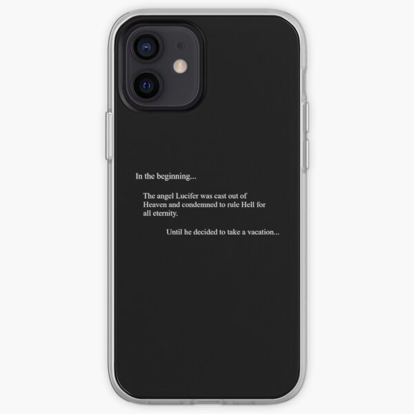 Au début ... - Lucifer (noir) Coque souple iPhone