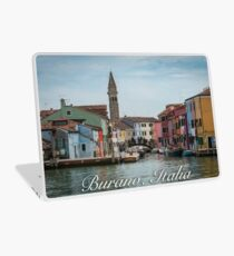 A View Along a Canal in Burano, Italy Laptop Skin