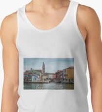 A View Along a Canal in Burano, Italy Tank Top