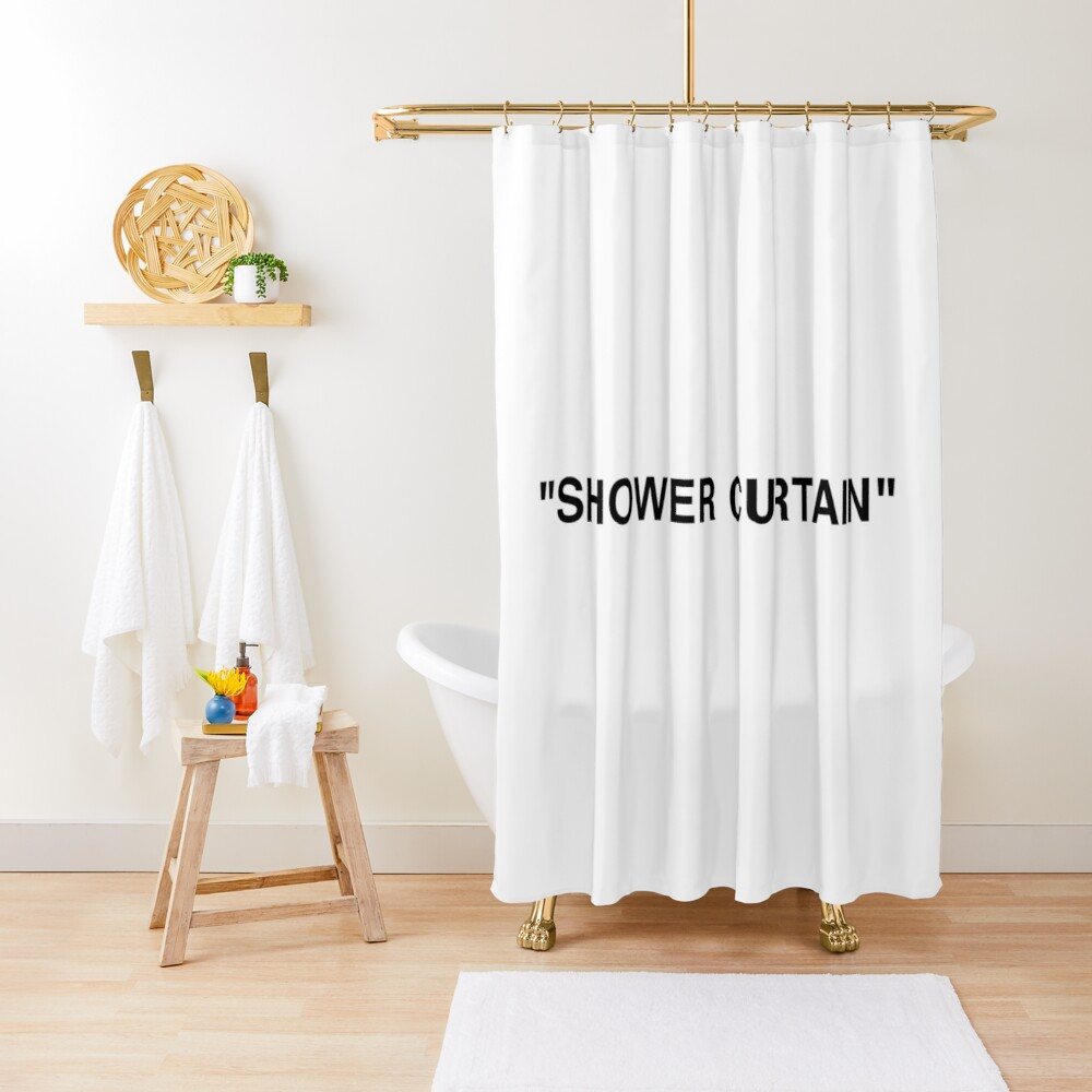 Shower Curtain Quotation Marks Shower Curtain