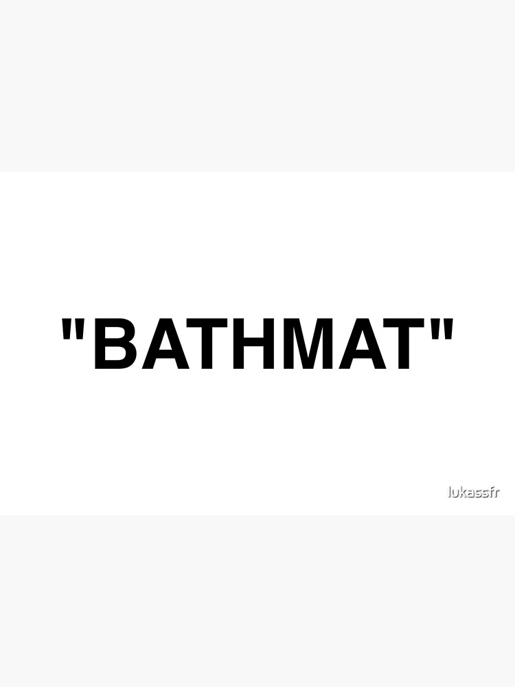 Bathmat Quotation Marks by lukassfr